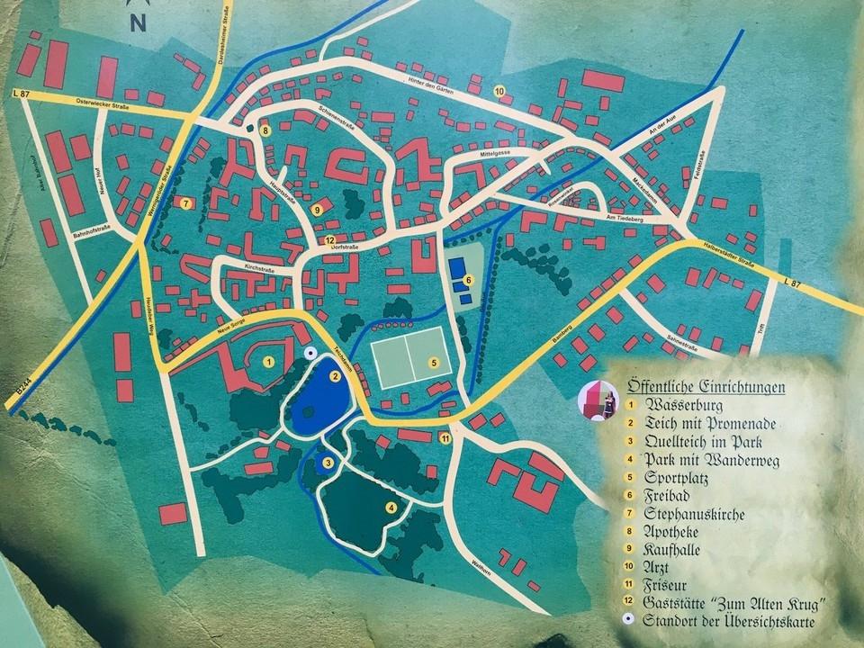 Der alte Dorfplan