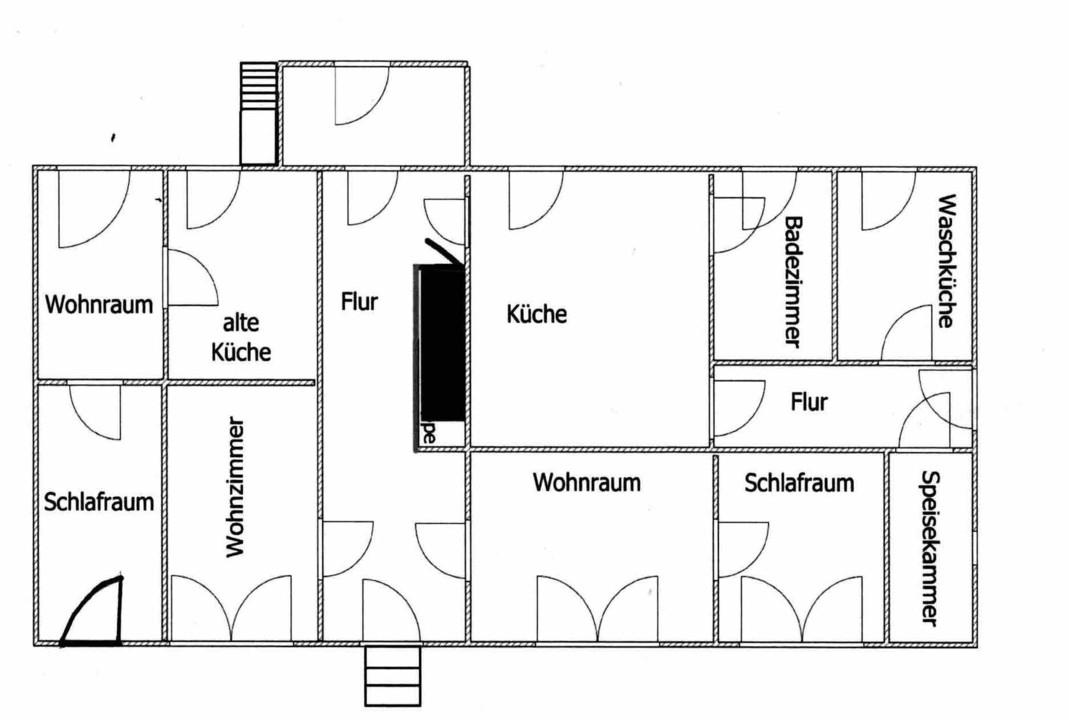 Grundriss Haus schematisch